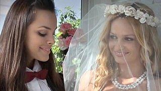 美丽的女同性恋新娘