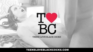 TeensLoveBlackCocks  - 瘦Kacy车道骑大黑公鸡
