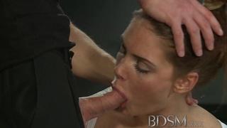 BDSM XXX变态的奴隶学习困难的方式