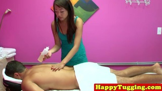 tossedoff masseuse tugging her client