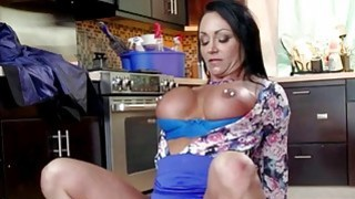 Ashtons massive melons gets squeezed and tit fucke