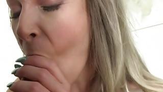 Huge tits blonde fucks fake agent