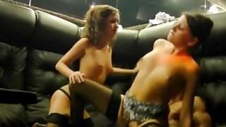 Sexy college girls in threesome fuck