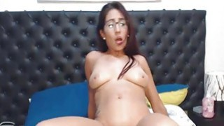 Gorgeous Nerd Swallow her BF Cock Before Getting F