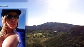 公鸡痴迷的金发奥利维亚奥斯汀给了伟大的口交,并得到性交户外