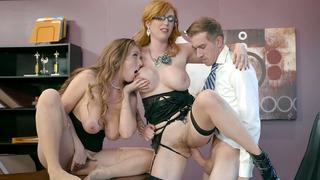 劳伦菲利普斯和莉娜保罗开始与女孩女孩戏剧热3some
