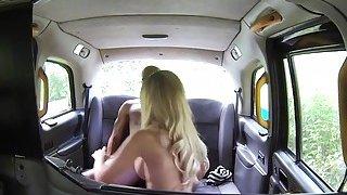 Black dude bangs blonde cab driver