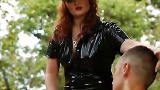 角质人乱搞角质红发女郎和她的胖奴隶