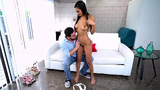 Latina beauty gets her pussy teased A LOT