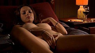 Solo pleasures of a busty beauty