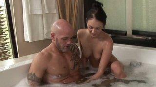 Tender brunette diva Stephanie Cane sexy water procedures