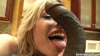 Black dick treatment for blonde whore Tara Lynn Foxx