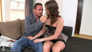 Seductive Mona Lee gets horny really fast and sucks cock