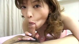 Saucy Japanese slut Tyara shows how well she sucks cocks