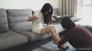 中国娃娃捆绑和堵嘴