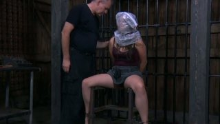Fluffy curly haired babe Charlotte Vale is punished on the chair