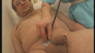 Lusty brunette nurse Julie knows how treat her patients