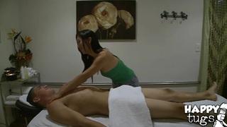 Bruce Venture gets massaged by asian Celia