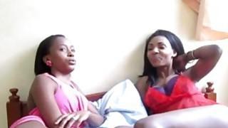 Super hot and sexy ebony chicks enjoys nice lesbian action