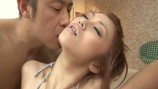 Horny men make Saki Kozakura squirt by fingering her pussy