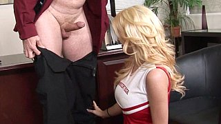 Cheerleader gets fingertested before getting the cock