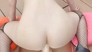 Marylin plays with dildos fucking herself